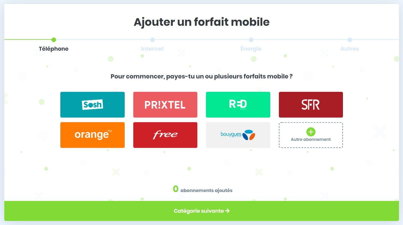 ideel-ajout-abonnement-telephone Ideel : un site web gratuit qui vous permet de gérer tous vos abonnements !