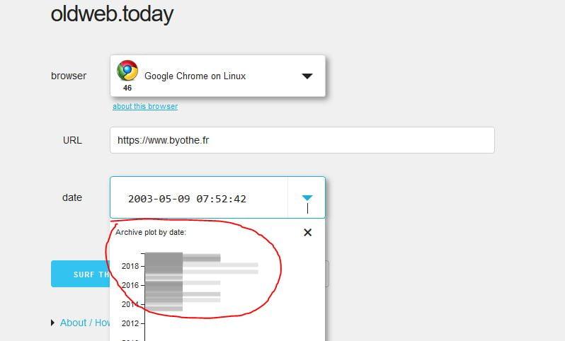 oldweb-ancienne-version-site-web-dates OldWeb vous permet de visionner les versions anciennes des sites web !